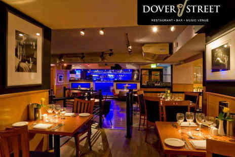 Dover Street - Five Course Meal with Live Jazz and a Bellini Each for One - Save 53%