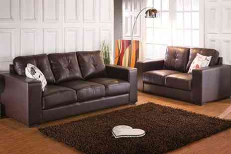 Furniture Wholesale Central - Olivia Two Piece Leather Sofa Suite - Save 57%