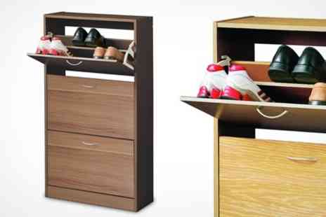 Premier Housewares - Shoe Storage Cupboard in Choice of Finish - Save 21%
