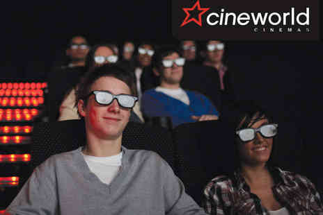 Cineworld - Two Cineworld Tickets for 2D or 3D Film - Save 24%