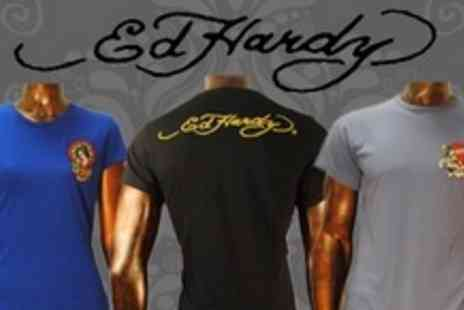 Born on the Streets - One Ed Hardy Core T Shirts From Choice Of Thirteen - Save 72%