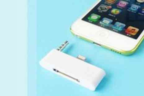 Eezee Lifestyle - Lightning adapter & audio converter for iPhone 5 - Save 93%