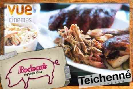 Bodean's - BBQ Smoke House Platter Plus Cocktail, Schnapps Shot and Vue Cinema Ticket for £15.06 - Save 60%