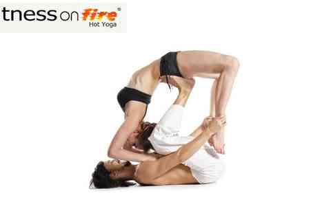 Fitness on Fire - 5 Hot Yoga Classes - Save 77%