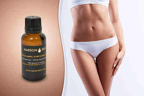 Narson Skin - 30ml bottle of  South American rosehip oil to fight stretch marks & scars - Save 60%