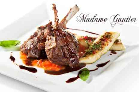 Madame Gautier - Gourmet Four Course Set Meal for Two People Delivered To Your Home or Office - Save 61%