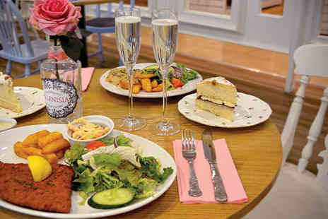 The Tea House - Two course meal for 2 incduing a glass of Prosecco - Save 53%