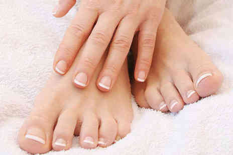 Nice Nails Baby - 40 Minute Manicure and Hour Long  Extreme Pedicure - Save 58%
