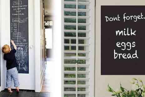 Roolyn - Two Metre Chalkboard Wall Sticker - Save 70%