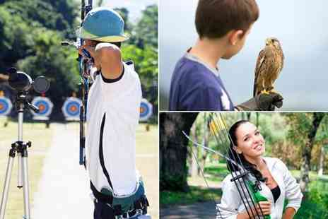 Perriswood Archery and Falconry Centre - One hour archery and a one hour falconry experience for two people - Save 50%