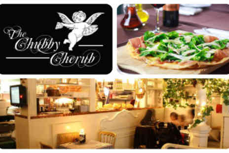 Chubby Cherub - Two Gourmet Pizzas and Two Glasses of Wine - Save 51%