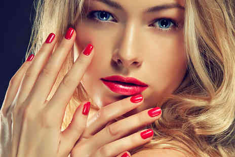 Hollywood Tanning & Beauty - One hour Shellac manicure or Fake Bake full body spray tan - Save 71%