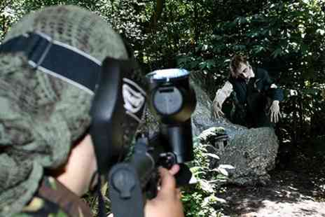 Action Paintball - Group Zombie Themed or Standard Paintball - Save 88%