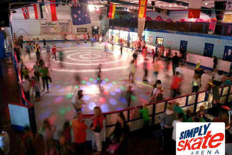 Simply Skate Arena - Two Roller Skate Entries Including Skate Hire Hot Dog and Drink - Save 60%