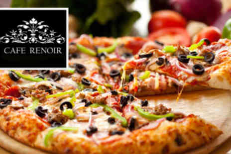 Cafe Renoir - 2x 12  Pizzas plus a Sharing Side - Save 50%