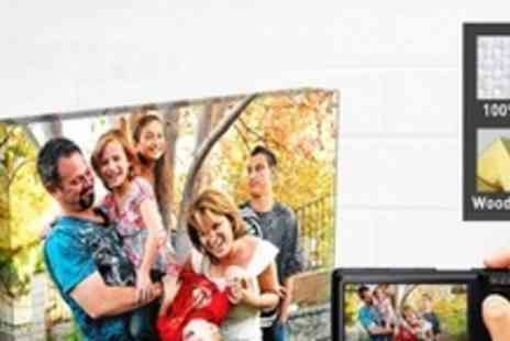 Printerpix - 12x16 Personalised Photo Canvas - Save 66%