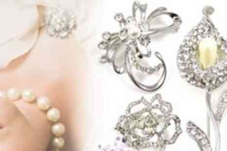 Brooches Store - Choice of Crystal Brooches - Save 75%