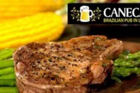 Canecao - Three Courses of Brazilian Cuisine For Two With Olives - Save 60%