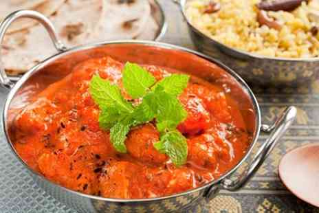 Delhi Spice - Indian Meal With Sides and Wine For Two or Four - Save 65%