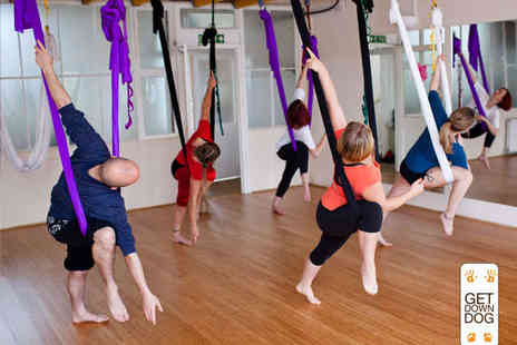 Get Down Dog - Four Week Beginners Aerial Yoga Course - Save 53%