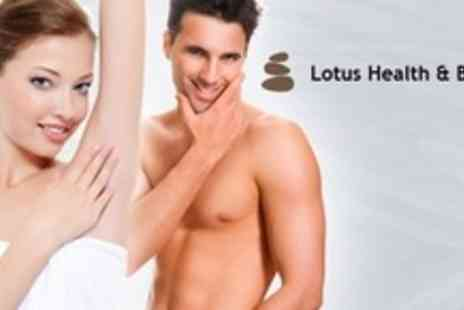 Lotus Health and Beauty Salon - Six Sessions of IPL Hair Removal - Save 84%