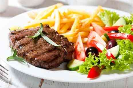 39 Prime - 10oz Sirloin Steak Meal For Two With Wine - Save 56%