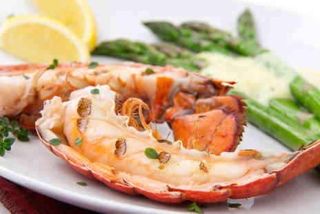 Marisko Seafood Restaurant - Lobster meal for 2 including a glass of wine and dessert - Save 47%