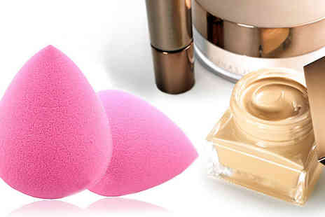 Livmore - Look & feel like a supermodel with these egg shaped make up sponges for Two - Save 71%
