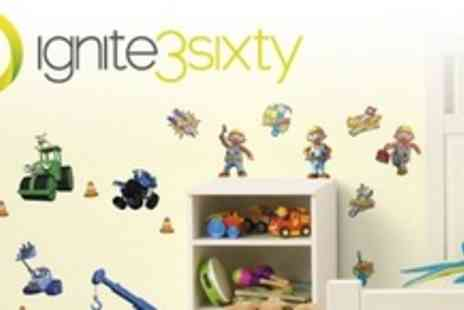 ignite3sixty - One (£8.50), Two (£15), or Four (£27) Packs of Children's Wall Stickers from ignite3sixty (Up to 60% Off) - Save 56%