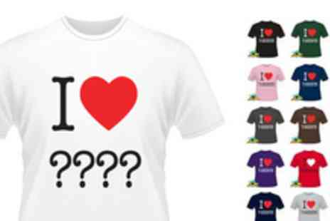 printmeashirt.com - Custom I Heart T shirt - Save 50%
