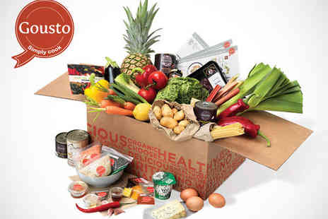 Gousto - Chef Designed Recipes and Ingredient Box Couples Vegetarian Box  - Save 38%