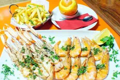 Marisko Seafood Restaurant - Seafood Feast Including 250g Langoustines with Wine and Ice Cream - Save 42%