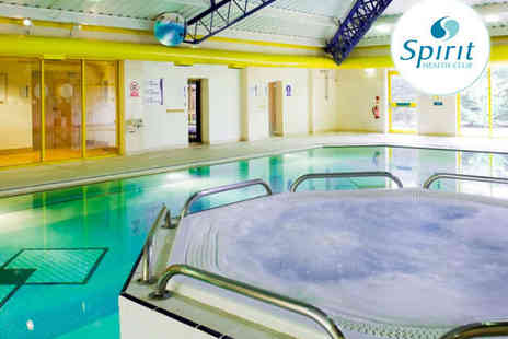 Spirit Health Club - Full Day Spa Access Including Use of Swimming Pool Gym Sauna Jacuzzi and Steam Room for One - Save 60%