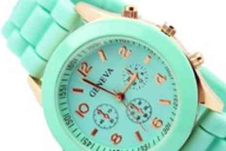 Betafresh BV - Silicone Geneva watch in a choice of seven colours - Save 97%