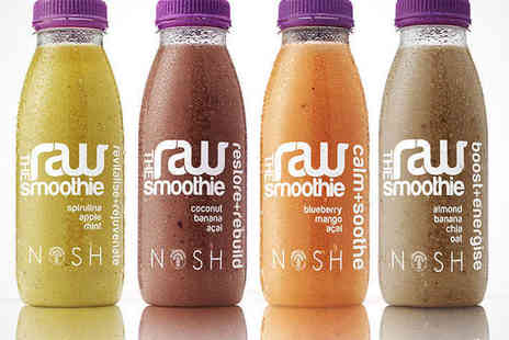 Nosh - Three day Raw Smoothie Package Including e cookbook Phone Consultation with Nosh Nutritionist - Save 57%