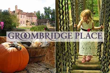 Groombridge Place - Tickets Great Half Term Halloween Activities - Save 50%