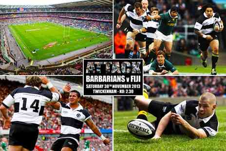 International Sports Inc - Barbarians vs Fiji centenary match at Twickenham adult ticket  - Save 50%