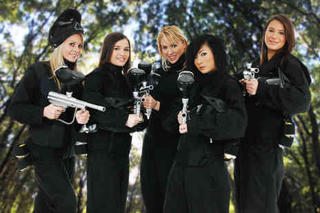 Paintball Network - Paintballing for up to 5 including light lunch & 100 balls - Save 95%