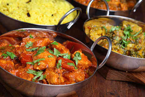 Balti King - Starter Main and Rice or Naan Each for Two - Save 68%