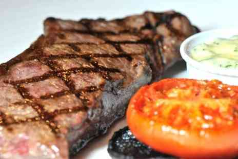 Kings Road Steakhouse & Grill - Main, Dessert and Champagne Cocktail Each for Two People - Save 58%
