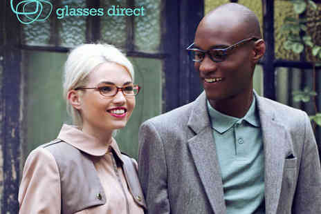 Glasses Direct - Voucher to Spend Towards Prescription Glasses Including Second Pair Free Offer on Frames - Save 65%
