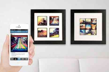 Instajunction - Instagram Prints in One or Two Wooden Frames - Save 52%