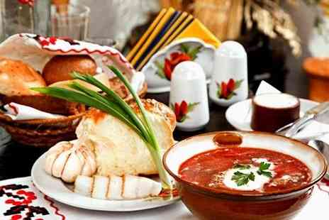 St. Petersburg - Three course Russian meal for two - Save 61%