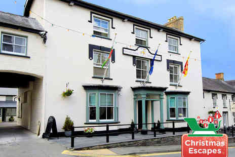 Gwestyr Emlyn Hotel - 300 Year Old Newcastle Emlyn Coaching Inn with Christmas Options - Save 50%