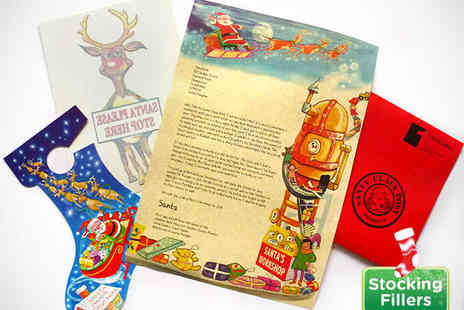 Festive Touch - Personalised Letter from Santa Claus with Window Sticker, Door Hanger - Save 54%