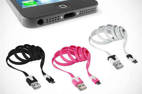 Shopper Gold - One Non Tangle USB Cables for iPhone 3 4 4S iPhone 5 or Android and Blackberry - Save 87%