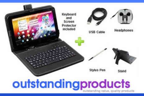 Outstanding Products - 9 Inch White Android Allwinner Tablet Bundle - Save 62%