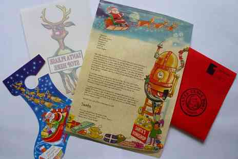 Santa Claus Post - Two or Four Personalised Letters  - Save 54%