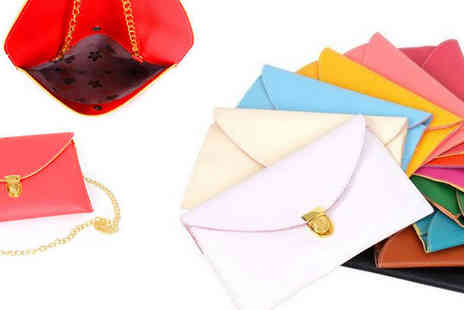 Suga Rush Love - Bring a splash of colour to your winter wardrobe with this special delivery clutch bag - Save 68%