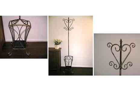 Garden Games - Wrought Iron Coat Stand or Wall Shelf - Save 60%